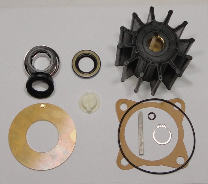 Raw Sea Water Pump Impeller Repair Kit Sherwood 15000K Cummins 3349198 Mercruise